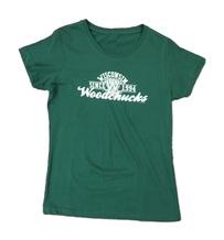 Ladies Green & White T-Shirt
